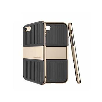 Baseus Travel Serisi iPhone 7 / iPhone 8 Çift Katmanlý Kýlýf Gold