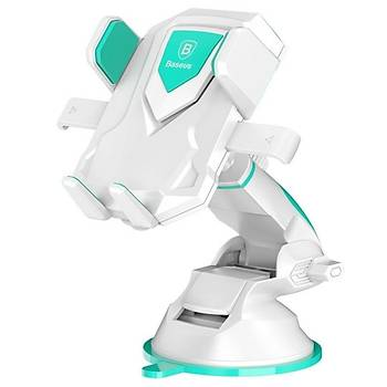Baseus Robot Car Araç içi Vakumlu Telefon Tablet Tutucu Beyaz