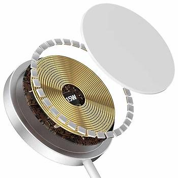 Wiwu Magsafe Serisi Manyetik Wireless Hýzlý Þarj Ýstasyonu