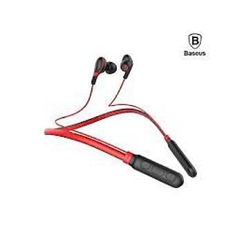 Baseus Encok E16 Boyun Askýlý Bluetooth Kulaklýk Kýrmýzý Siyah