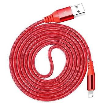 Baseus Red 1,2M 2A iPhone Lightning Data Þarj Kablosu Kýrmýzý