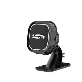 Go Des GD-HD668 Magnetic Araç Tutucu Siyah+Beyaz