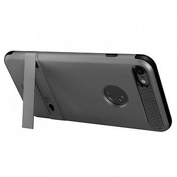 Baseus iBracket Serisi iPhone 7 Plus Gizli Standlý Kýlýf Koyu Gri