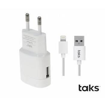 Ttec Taks iPhone Lightning Kablolu 1A Seyahat Þarj Cihazý Beyaz
