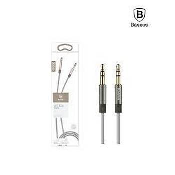 Baseus Fluency Serisi 3.5mm 1,2 Metre Aux Ses Kablosu Gri