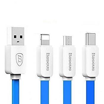 Baseus String Micro USB Type-C Lightning 1,2M Data Þarj Kablosu
