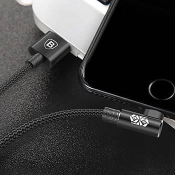 Baseus Mvp Elbow 2A iPhone Lightning Data Þarj Kablosu 1M Siyah
