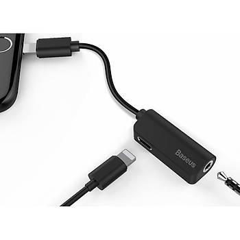Baseus L32 2in1 Lightning Þarj ve Aux Dönüþtürücü Ses Kablosu