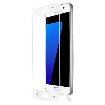 AntDesign 5D Tüm Yüzey Galaxy A5 2018 Cam Ekran Koruyucu Beyaz