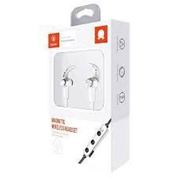 Baseus Licolor Magnet Mýknatýslý Spor Bluetooth Kulaklýk Beyaz
