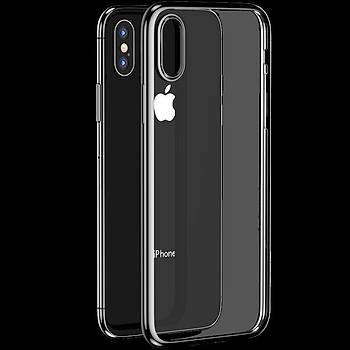 Benks Electroplating TPU Apple iPhone XS Kýlýf Silver