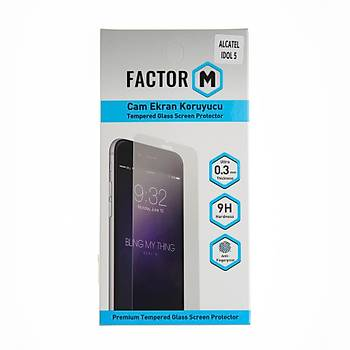 Factor-M Alcatel Idol 5 Cam Ekran Koruyucu