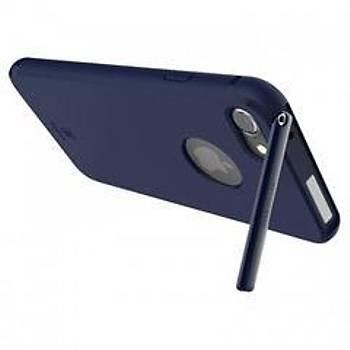 Baseus Hermit Bracket iPhone 7/8 Stand Özellikli Kýlýf Lacivert