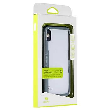 Benks Shiny Glass Serisi Apple iPhone X-Xs Kýlýf Silver