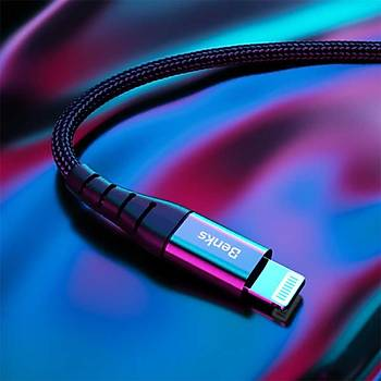 Benks M11 PD MFI Lisanslý Lightning-Type-C Þarj ve Data Kablosu Siyah