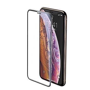 Baseus  Ýphone XR 6.1 0.3mm Full-Screen Curved Tamperli Cam Ekran Koruyucu Siyah