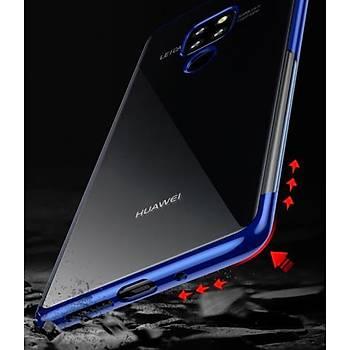 Baseus Shining Huawei Mate 20 Pro Kenar Korumalý Tpu Kýlýf Mavi