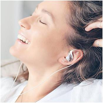 Baseus Encok Wire H05 3.5mm Kulakiçi Mikrofonlu Kulaklýk Beyaz