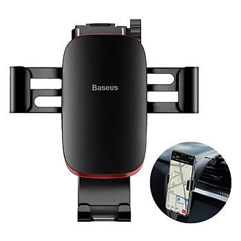 Baseus Metal Age Gravity Araç Torpido Üstü Telefon Tutucu Siyah