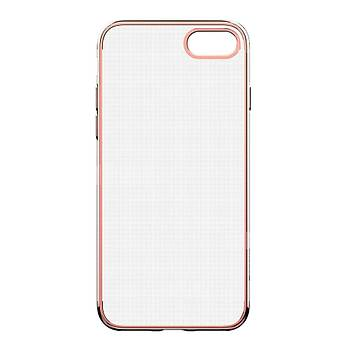 Baseus Shining iPhone 7/8 Kenar Korumalý Tpu Kýlýf Koyu Rose Gold