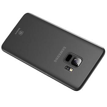 Baseus Wing Samsung Galaxy S9 Ultra Ýnce Kýlýf Transparan Siyah