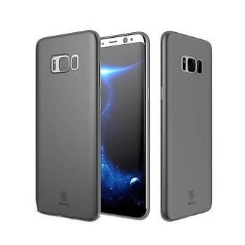 Baseus Wing Galaxy S8 Plus Ultra Ýnce Kýlýf Transparan Siyah