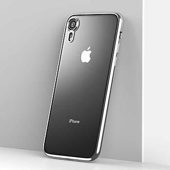 Benks Electroplating TPU Apple iPhone XR Kýlýf Silver