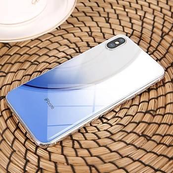 Baseus Coloring iPhone X / iPhone XS 5,8 Arka Cam Koruyucu Mavi
