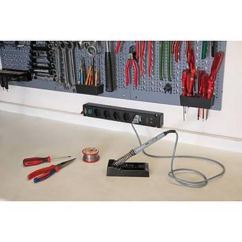 Brennenstuhl Bremounta 2X USB li Þarj 5 Soketli Priz 3m Siyah