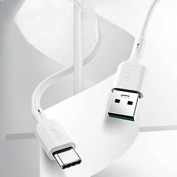 Benks D35 USB-Type-C Hýzlý Þarj Veri Aktarým Kablosu 0,25CM Beyaz