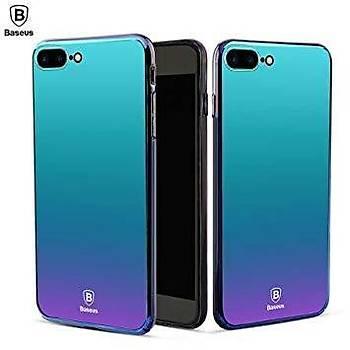 Baseus Glass Mirror Serisi iPhone 7 / iPhone 8 Aynalý Kýlýf Mavi