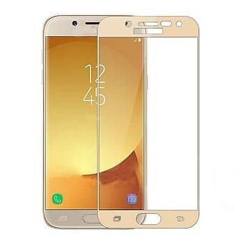 AntDesign 5D Tüm Yüzey Galaxy J7 Prime Gold Ekran Koruyucu Cam