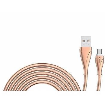 Zore LS28 Micro USB Þarj ve Data Kab.1 m. 2.4A Rose Gold