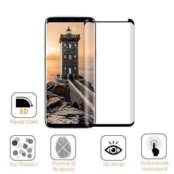 Piili 5D Tüm Yüzey Galaxy A8 2018 Plus Cam Ekran Koruyucu Beyaz