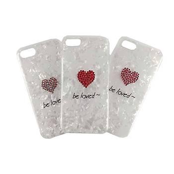 AntDesign iPhone 7 Plus / 8 Plus Be Loved Kalp Taþlý Kýlýf Pembe