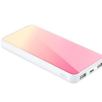 Xipin M8 10000 Mah Çift USB Çýkýþlý Mini Powerbank Pink