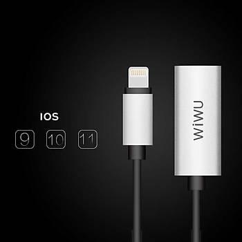 Wiwu LT01 Lightning Þarj ve Audio Dönüþtürücüz Adaptör Gri