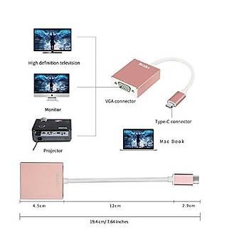 Benks USB3.1-Type C TO VGA Adapter Hub Silver