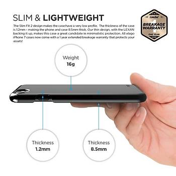 Elago iPhone 7 / iPhone 8 Slim Fit 2 Jean Indigo Kýlýf Siyah