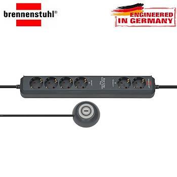 Brennenstuhl Eco-Line Comfort Güvenlik Anahtarlý 6'lý Uzatma Priz