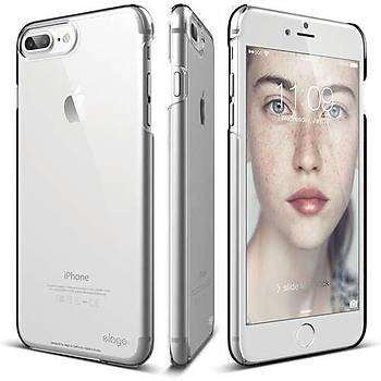 Elago iPhone 7 Plus / 8 Plus Slim Fit 2 Jean Indigo Kýlýf Seffaf