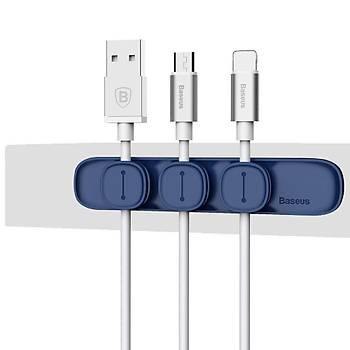 Baseus Peas Cable Clip Kablo Düzenleyici Mavi