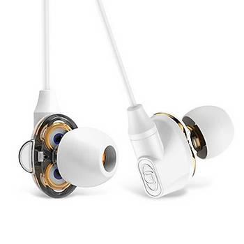 Baseus Encok H10 Dual Dynamic Kulakiçi Mikrofonlu Kulaklýk Beyaz