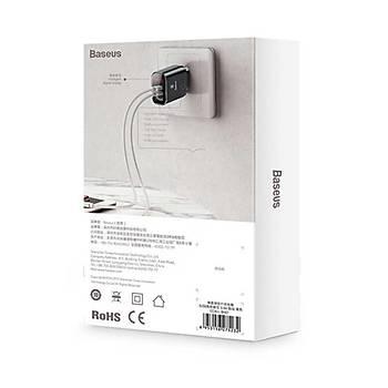 Baseus Mirror Lake Ýntelligent Digital 3 USB li Seyehat Þarj Aleti 3.4 A