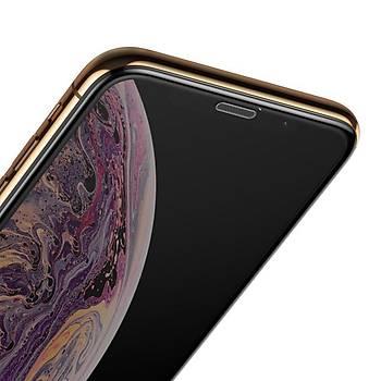 Baseus Ýphone X/XS 5.8inch Tamperli Full Ekran Koruyucu Siyah
