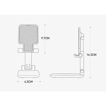 Wiwu ZM103 Kademeli Tablet - Telefon  Standý Siyah