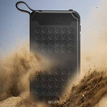 Wiwu PC905 10000 Mah Suya Ve Darbeye Dayanýklý Powerbank Siyah
