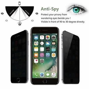 Piili Privacy Gizli Görünmez iPhone 8 Plus Ekran Koruyucu Cam