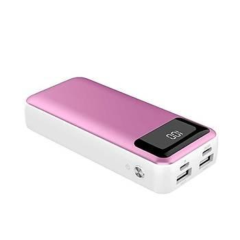 Xipin Powerbank 10.000 Mah Çift USB li IQ Þarj Pink