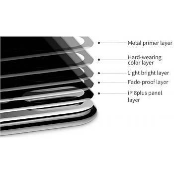 Baseus 4D Arc iPhone 7 Plus/8 Plus Tam Kaplayan Arka Cam Koruyucu